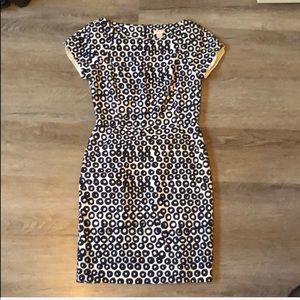 JCrew dress size small - dark navy and cream!